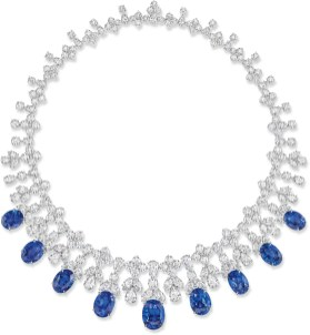Incredible Sapphire and Diamond Necklace