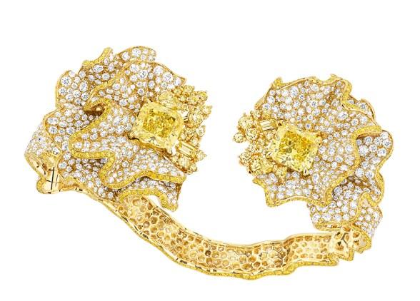 BRACELET FRONCE DIAMANT JAUNE 750/1000e or jaune, diamants et diamants jaunes