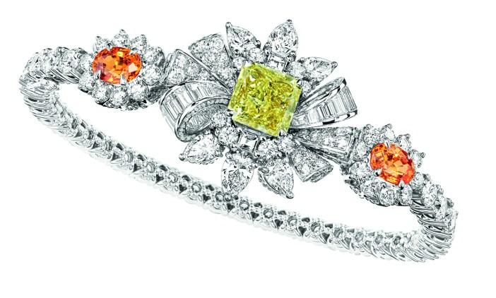 BRACELET PLUMETIS DIAMANT JAUNE JCAD93003 750/1000e or blanc, diamants, diamant jaune et grenats spessartites