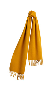 The Classic Cashmere Scarf - Amber Yellow