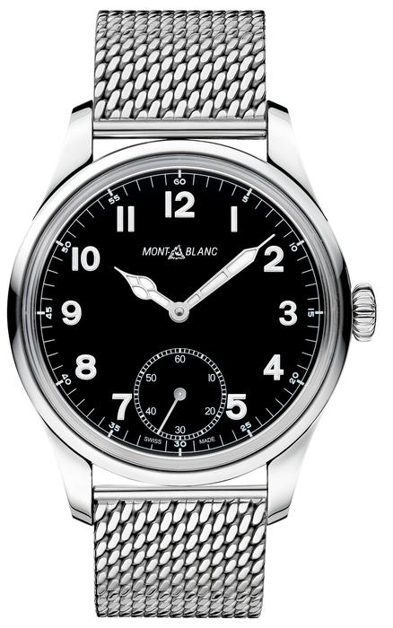 112639 Montre Montblanc Petite Seconde, bracelet en acier fin