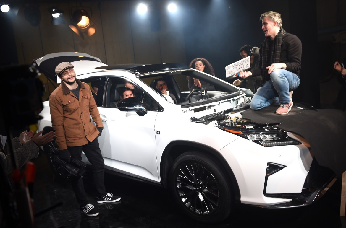 "LONDON, ENGLAND - FEBRUARY 09: Guests enjoy the new immersive theatre experience, ""The Life RX"", a performance celebrating the launch of the boldly designed new Lexus RX on February 9, 2016 in London, England. (Photo by Stuart C. Wilson/Getty Images for Lexus)"