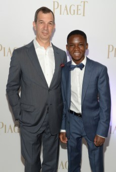 SANTA MONICA, CA - FEBRUARY 27: Piaget CEO Philippe Leopold-Metzger (L) and actor Abraham Attah attend the 2016 Film Independent Spirit Awards sponsored by Piaget on February 27, 2016 in Santa Monica, California. (Photo by Michael Kovac/Getty Images for Piaget) *** Local Caption *** Abraham Attah;Philippe Leopold-Metzger