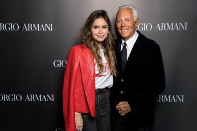 Giorgio Armani and Miroslava Duma