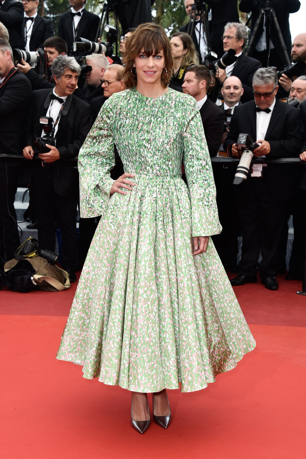 "CANNES, FRANCE - MAY 11: French actress Celine Sallette attends the ""Cafe Society"" premiere and the Opening Night Gala during the 69th annual Cannes Film Festival at the Palais des Festivals on May 11, 2016 in Cannes, France. (Photo by Pascal Le Segretain/Getty Images)"