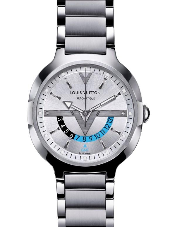 Louis Vuitton - GMT Steel Steel Silver dial