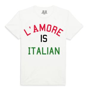 PP tshirt blanc-lamore is italian