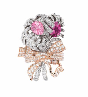 DOUBLE PANACHE SPINELLE ROSE RING