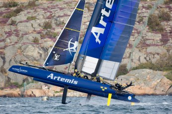 Practice before ACWS Gothenburg. Artemis Racing. 27th of August, 2015, Gothenburg, Sweden