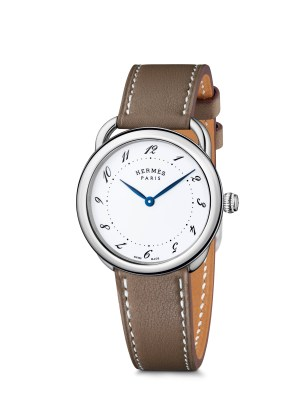 Hermes_Other new products Baselworld 2016_Arceau_Arceau 36mm_veau etoupe-etoupe calf®Calitho