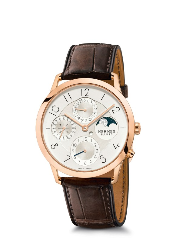 Hermes_Other new products Baselworld 2016_Slim d'Hermes_Pictures_Products_Press_Slim d'Hermes 39 manufacture-or rose-rose gold QP®Claude Joray