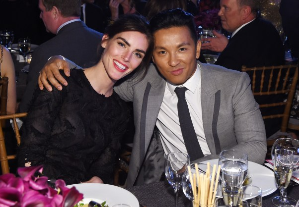 NEW YORK, NY - OCTOBER 17: Hilary Rhoda and Prabal Gurung attend the God's Love We Deliver Golden Heart Awards on October 17, 2016 in New York City. (Photo by Larry Busacca/Getty Images for Michael Kors)