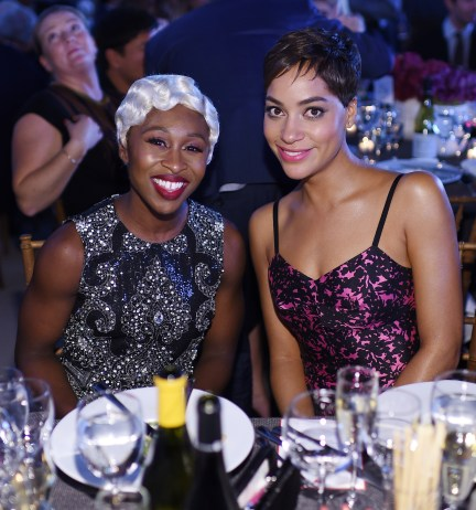 NEW YORK, NY - OCTOBER 17: Cynthia Erivo and Cush Jumbo attend the God's Love We Deliver Golden Heart Awards on October 17, 2016 in New York City. (Photo by Dimitrios Kambouris/Getty Images for Michael Kors)