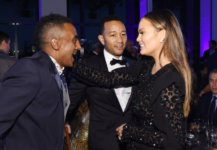 NEW YORK, NY - OCTOBER 17: Marcus Samuelsson, John Legend, and Chrissy Teigen attend the God's Love We Deliver Golden Heart Awards on October 17, 2016 in New York City. (Photo by Larry Busacca/Getty Images for Michael Kors)