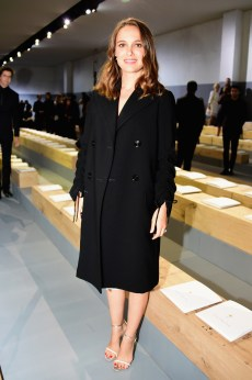 PARIS, FRANCE - SEPTEMBER 30: Natalie Portman attends the Christian Dior show as part of the Paris Fashion Week Womenswear Spring/Summer 2017 on September 30, 2016 in Paris, France. (Photo by Anthony Ghnassia/Getty Images For Dior)