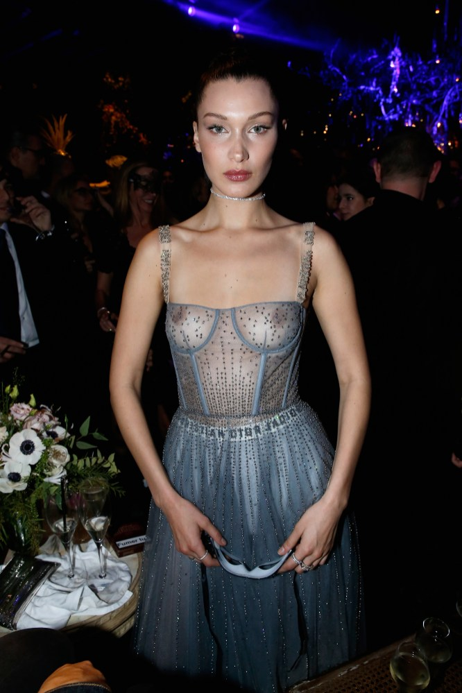 PARIS, FRANCE - JANUARY 23: Bella Hadid attends the Christian Dior Haute Couture Spring Summer 2017 Bal Masque as part of Paris Fashion Week on January 23, 2017 in Paris, France. (Photo by Bertrand Rindoff Petroff/Getty Images for Dior) *** Local Caption *** Bella Hadid
