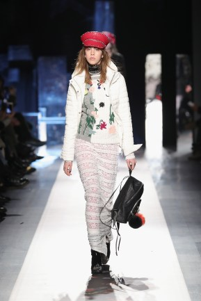 DESIGUAL_NYFW_AW17_ATWALK_LOOK 35 NEW YORK, NY - FEBRUARY 09:A model walks the runway at the Desigual show New York Fashion Week The Shows at Gallery 1, Skylight Clarkson Sq on February 9, 2017 in New York City