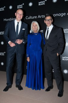 MADRID, SPAIN - MAY 04: Jens Henning Koch, Soledad Lorenzo and Sam Bardaouil attend Montblanc de la Culture Arts Patronage Award at the Madrid Palacio Liria on May 4, 2017 in Madrid, Spain. (Photo by Carlos Alvarez/Getty Images for Montblanc)