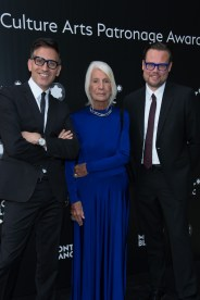 MADRID, SPAIN - MAY 04: Sam Bardaouil, Soledad Lorenzo and Till Fellrath attend Montblanc de la Culture Arts Patronage Award at the Madrid Palacio Liria on May 4, 2017 in Madrid, Spain. (Photo by Carlos Alvarez/Getty Images for Montblanc)