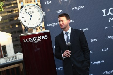 NEW YORK, NY - MAY 17: Mclain Ward speaks at the Longines Masters launch party celebrating Series' epic move to New York at Salon de Ning on May 17, 2017 in New York City. (Photo by Astrid Stawiarz/Getty Images for Longines)