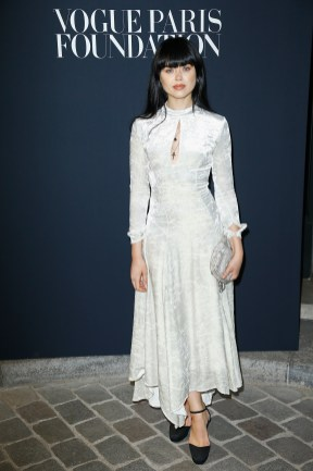 PARIS, FRANCE - JULY 04: Kristina Bazan attends the Vogue Foundation Dinner during Paris Fashion Week as part of Haute Couture Fall/Winter 2017-2018 at Musee Galliera on July 4, 2017 in Paris, France. (Photo by Julien Hekimian/Getty Images for Vogue) *** Local Caption *** Kristina Bazan