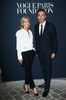PARIS, FRANCE - JULY 04: (L-R) Claire Chazal and Nicolas Escoulanattends the Vogue Foundation Dinner during Paris Fashion Week as part of Haute Couture Fall/Winter 2017-2018 at Musee Galliera on July 4, 2017 in Paris, France. (Photo by Julien Hekimian/Getty Images for Vogue) *** Local Caption *** Claire Chazal;Nicolas Escoulan