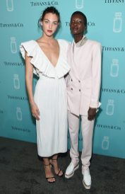 NEW YORK, NY - SEPTEMBER 06: Models Vittoria Ceretti and Achok Majak attend the Tiffany & Co. Fragrance launch event on September 6, 2017 in New York City. (Photo by Jamie McCarthy/Getty Images for Tiffany & Co.)