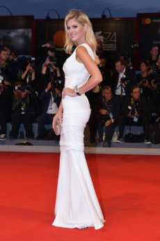 VENICE, ITALY - SEPTEMBER 04: Lala Rudge walks the red carpet ahead of the 'Three Billboards Outside Ebbing, Missouri' screening during the 74th Venice International Film Festival at Sala Grande on September 4, 2017 in Venice, Italy. (Photo by Dominique Charriau/WireImage)