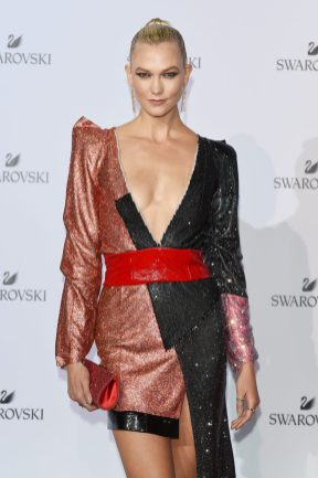 MILAN, ITALY - SEPTEMBER 20: Karlie Kloss attends Swarovski Crystal Wonderland Party on September 20, 2017 in Milan, Italy. (Photo by Stefania M. D'Alessandro/Getty Images for Swarovski) *** Local Caption *** Karlie Kloss