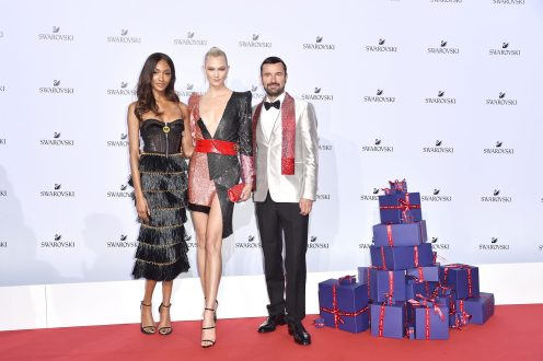 MILAN, ITALY - SEPTEMBER 20: Jourdan Dunn, Karlie Kloss and Robert Buchbauer attend Swarovski Crystal Wonderland Party on September 20, 2017 in Milan, Italy. (Photo by Jacopo Raule/Getty Images for Swarovski) *** Local Caption *** Jourdan Dunn; Karlie Kloss; Robert Buchbauer