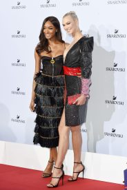 MILAN, ITALY - SEPTEMBER 20: Jourdan Dunn and Karlie Kloss attend Swarovski Crystal Wonderland Party on September 20, 2017 in Milan, Italy. (Photo by Stefania M. D'Alessandro/Getty Images for Swarovski) *** Local Caption *** Jourdan Dunn; Karlie Kloss