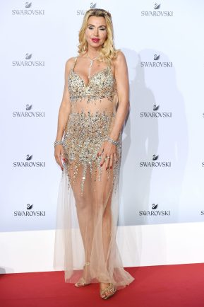 MILAN, ITALY - SEPTEMBER 20: Valeria Marini attends Swarovski Crystal Wonderland Party on September 20, 2017 in Milan, Italy. (Photo by Stefania M. D'Alessandro/Getty Images for Swarovski) *** Local Caption *** Valeria Marini