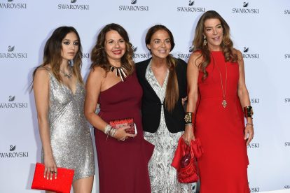 MILAN, ITALY - SEPTEMBER 20: Daya, Nathalie Colin, Cristina Lucchini, Fiona Swarovski attend Swarovski Crystal Wonderland Party on September 20, 2017 in Milan, Italy. (Photo by Stefania M. D'Alessandro/Getty Images for Swarovski) *** Local Caption *** Daya; Nathalie Colin; Cristina Lucchini; Fiona Swarovski