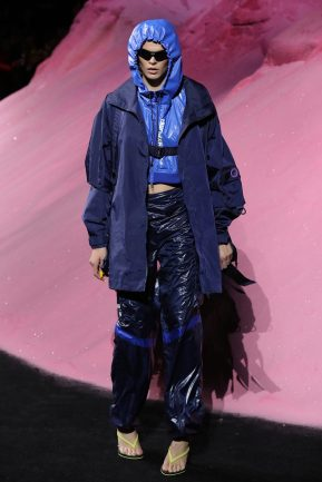NEW YORK, NY - SEPTEMBER 10: Cara Taylor walks the runway wearing Look 3 at the FENTY PUMA by Rihanna Spring/Summer 2018 Collection at Park Avenue Armory on September 10, 2017 in New York City. (Photo by JP Yim/Getty Images for FENTY PUMA By Rihanna)