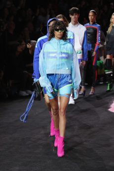 NEW YORK, NY - SEPTEMBER 10: Mica Arganaraz walks the runway at the FENTY PUMA by Rihanna Spring/Summer 2018 Collection at Park Avenue Armory on September 10, 2017 in New York City. (Photo by JP Yim/Getty Images for FENTY PUMA By Rihanna)