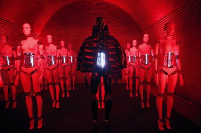 BERLIN, GERMANY - OCTOBER 11: A fashion installation is seen during the Moncler X Stylebop.com launch event at the Musikbrauerei on October 11, 2017 in Berlin, Germany. (Photo by Sebastian Reuter/Getty Images for Moncler X Stylebop.com)