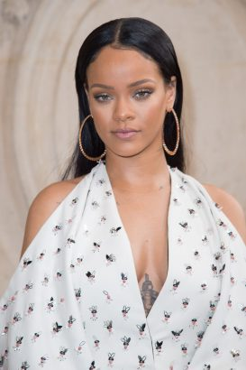 PARIS, FRANCE - SEPTEMBER 30: Singer Rihanna attends the Christian Dior show as part of the Paris Fashion Week Womenswear Spring/Summer 2017 on September 30, 2016 in Paris, France. (Photo by Stephane Cardinale - Corbis/Corbis via Getty Images)