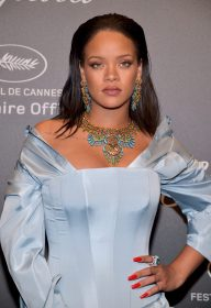 """attends the Chopard """"SPACE Party"""", hosted by Chopard's co-president Caroline Scheufele and Rihanna, at Port Canto on May 19, 2017, in Cannes, France."""