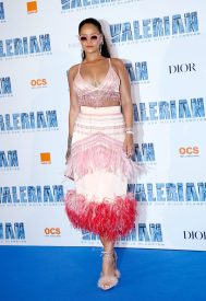 SAINT-DENIS, FRANCE - JULY 25: Rihanna attends Valerian and the City of a Thousand Planets Paris Premiere at La Cite Du Cinema on July 25, 2017 in Saint-Denis, France. (Photo by Bertrand Rindoff Petroff/Getty Images)