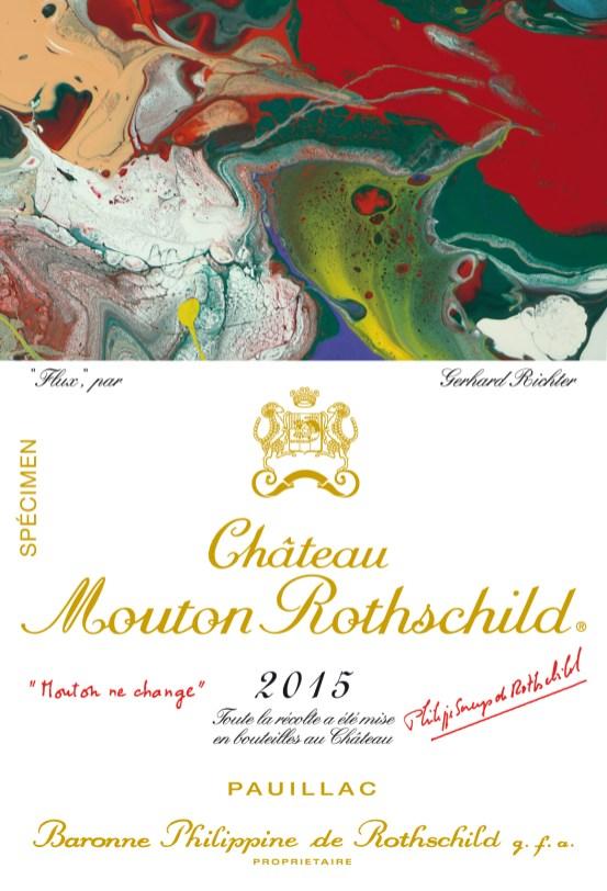 Etiquette specimen Ch. Mouton Rothschild 2015