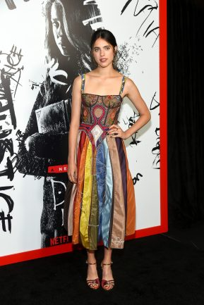 """NEW YORK, NY - AUGUST 17: Actress Margaret Qualley attends the """"Death Note' New York premiere at AMC Loews Lincoln Square 13 theater on August 17, 2017 in New York City. (Photo by Ben Gabbe/Getty Images)"""
