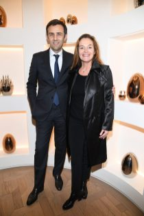 PARIS, FRANCE - NOVEMBER 23: Olivier Fremont and Olivia Putman attend Christofle Saint-Honore Boutique Opening on November 23, 2017 in Paris, France. (Photo by Pascal Le Segretain/Getty Images for Christofle) *** Local Caption *** Olivier Fremont;Olivia Putman