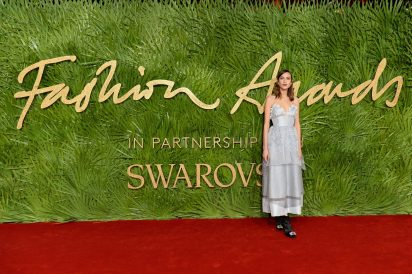 LONDON, ENGLAND - DECEMBER 04: Alexa Chung attends The Fashion Awards 2017 in partnership with Swarovski at Royal Albert Hall on December 4, 2017 in London, England. (Photo by Jeff Spicer/BFC/Getty Images)