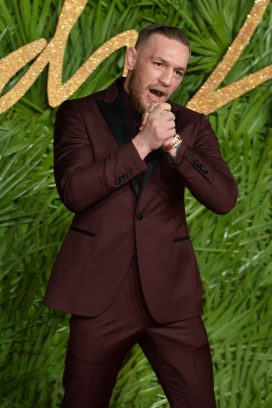 LONDON, ENGLAND - DECEMBER 04: Conor McGregor attends The Fashion Awards 2017 in partnership with Swarovski at Royal Albert Hall on December 4, 2017 in London, England. (Photo by Jeff Spicer/BFC/Getty Images)