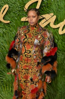LONDON, ENGLAND - DECEMBER 04: Erykah Badu attends The Fashion Awards 2017 in partnership with Swarovski at Royal Albert Hall on December 4, 2017 in London, England. (Photo by Jeff Spicer/BFC/Getty Images)