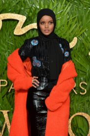 LONDON, ENGLAND - DECEMBER 04: Halima Aden attends The Fashion Awards 2017 in partnership with Swarovski at Royal Albert Hall on December 4, 2017 in London, England. (Photo by Jeff Spicer/BFC/Getty Images)