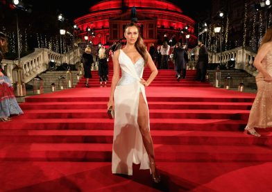 LONDON, ENGLAND - DECEMBER 04: Irina Shayk attends The Fashion Awards 2017 in partnership with Swarovski at Royal Albert Hall on December 4, 2017 in London, England. (Photo by Mike Marsland/BFC/Getty Images)