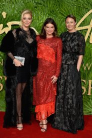 LONDON, ENGLAND - DECEMBER 04: (L-R) Nadja Swarovski, Natalie Massenet and Caroline Rush attend The Fashion Awards 2017 in partnership with Swarovski at Royal Albert Hall on December 4, 2017 in London, England. (Photo by Jeff Spicer/BFC/Getty Images)