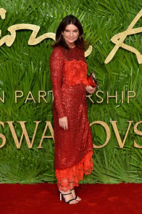 LONDON, ENGLAND - DECEMBER 04: Natalie Massenet attends The Fashion Awards 2017 in partnership with Swarovski at Royal Albert Hall on December 4, 2017 in London, England. (Photo by Jeff Spicer/BFC/Getty Images)