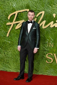LONDON, ENGLAND - DECEMBER 04: Sam Smith attends The Fashion Awards 2017 in partnership with Swarovski at Royal Albert Hall on December 4, 2017 in London, England. (Photo by Jeff Spicer/BFC/Getty Images)